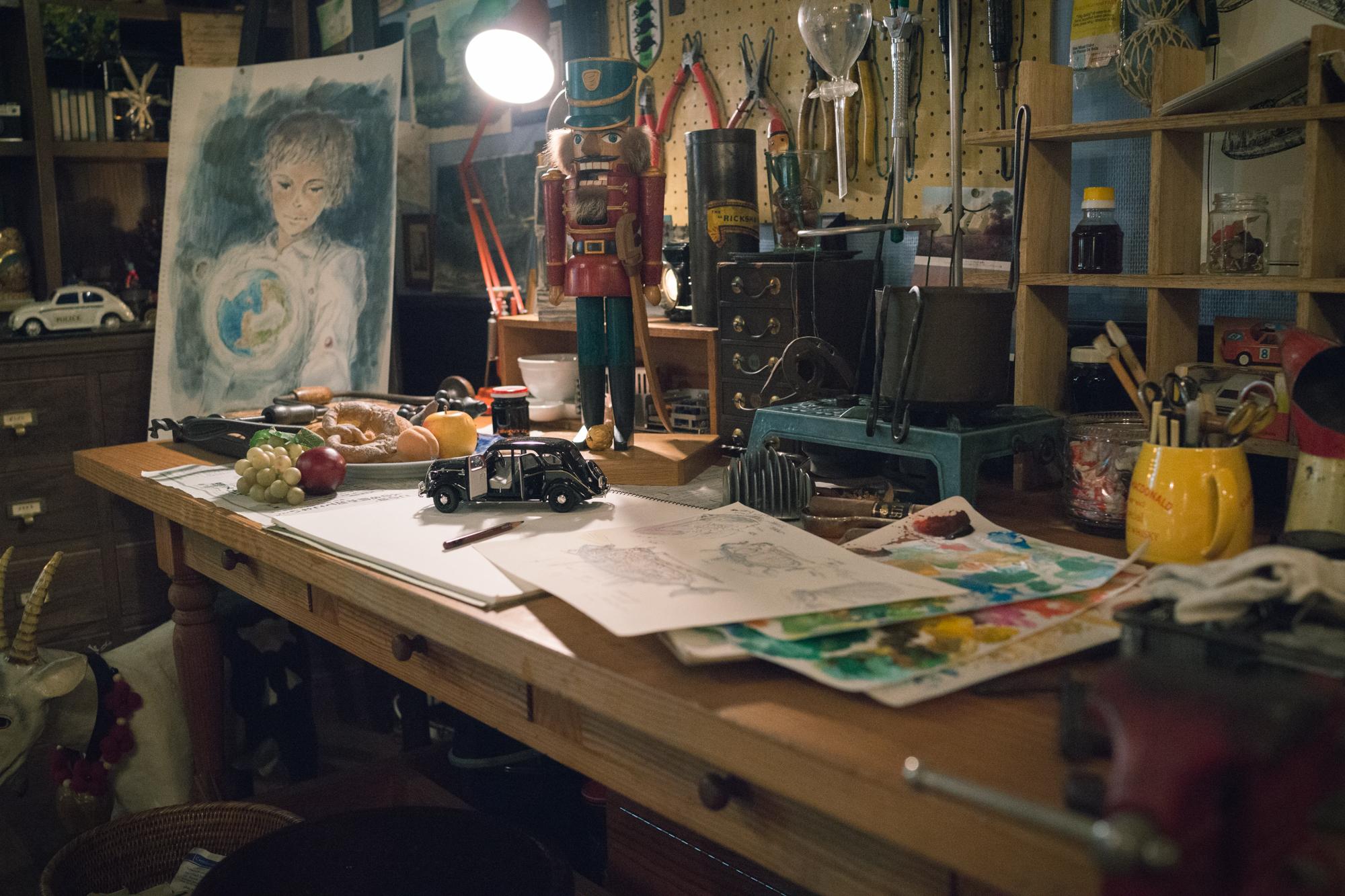 Hayao Miyazaki's Desk at Ghibli Museum