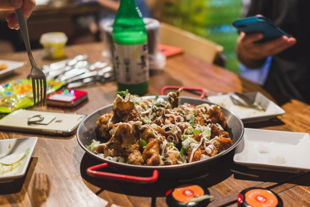 KFC (Korean Fried Chicken) 닭 튀김 in Seoul, South Korea