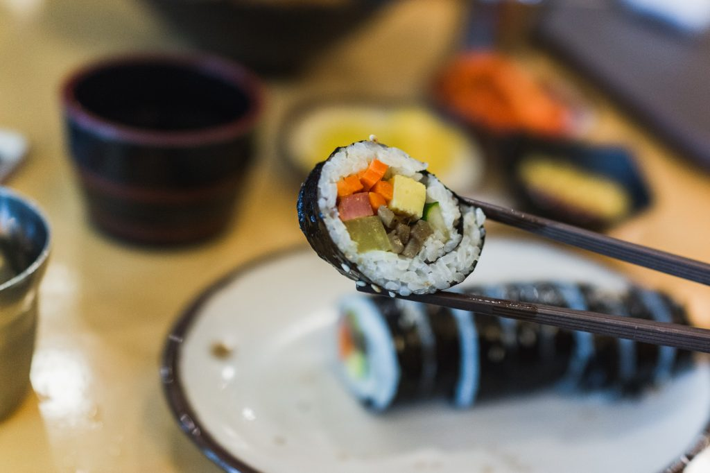 Korean Gimbap (Kimbap) 김밥 in Seoul, Korea