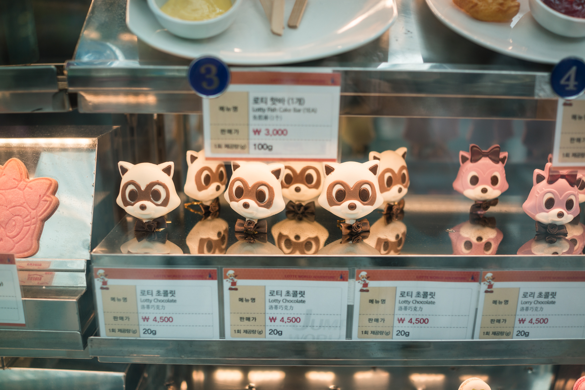 Raccoon Shaped Treats at Lotte World