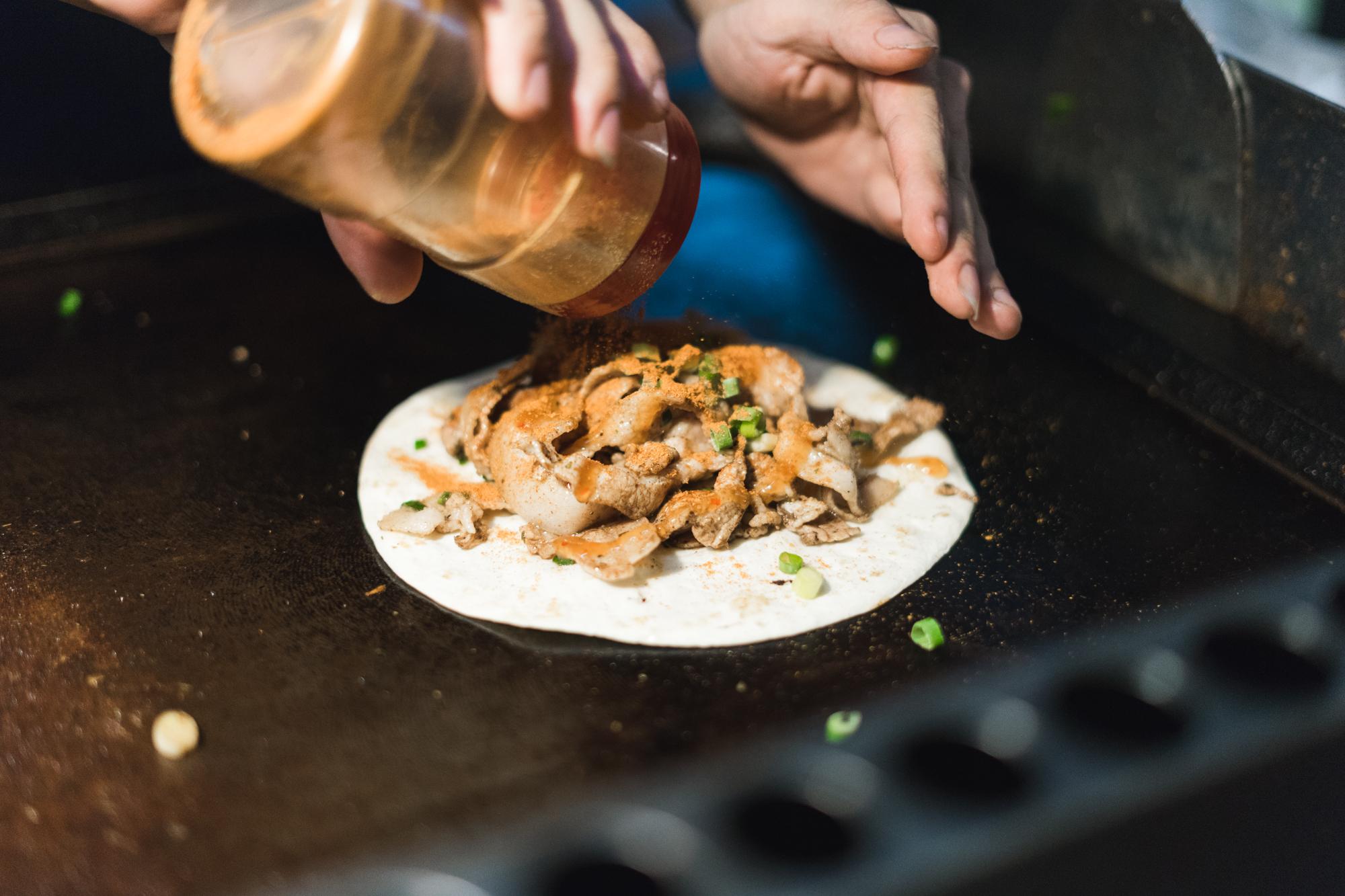 Suckling Pork Taco at Taipei Night Market