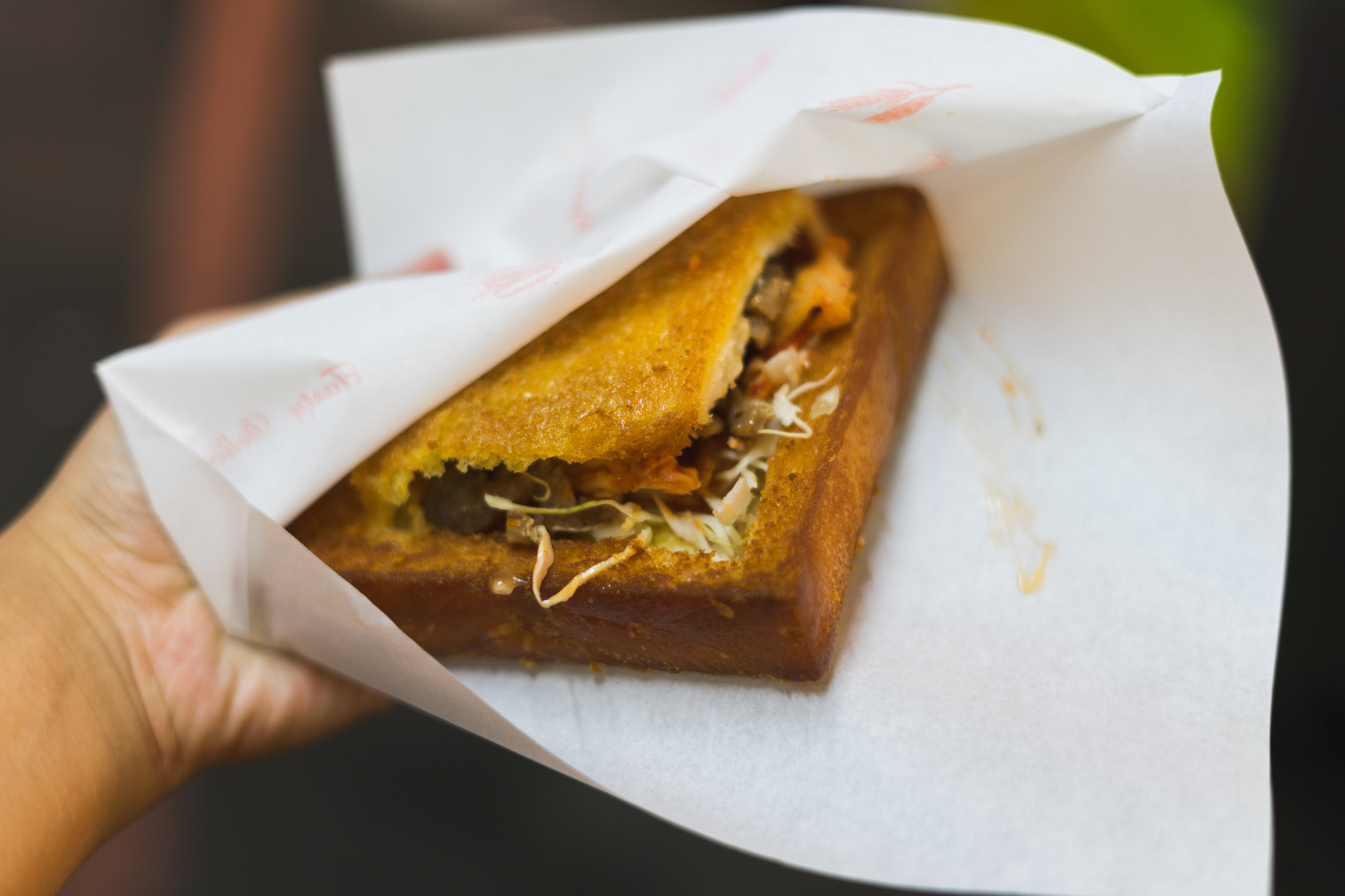 Coffin Bread at Fengjia Night Market in Taichung