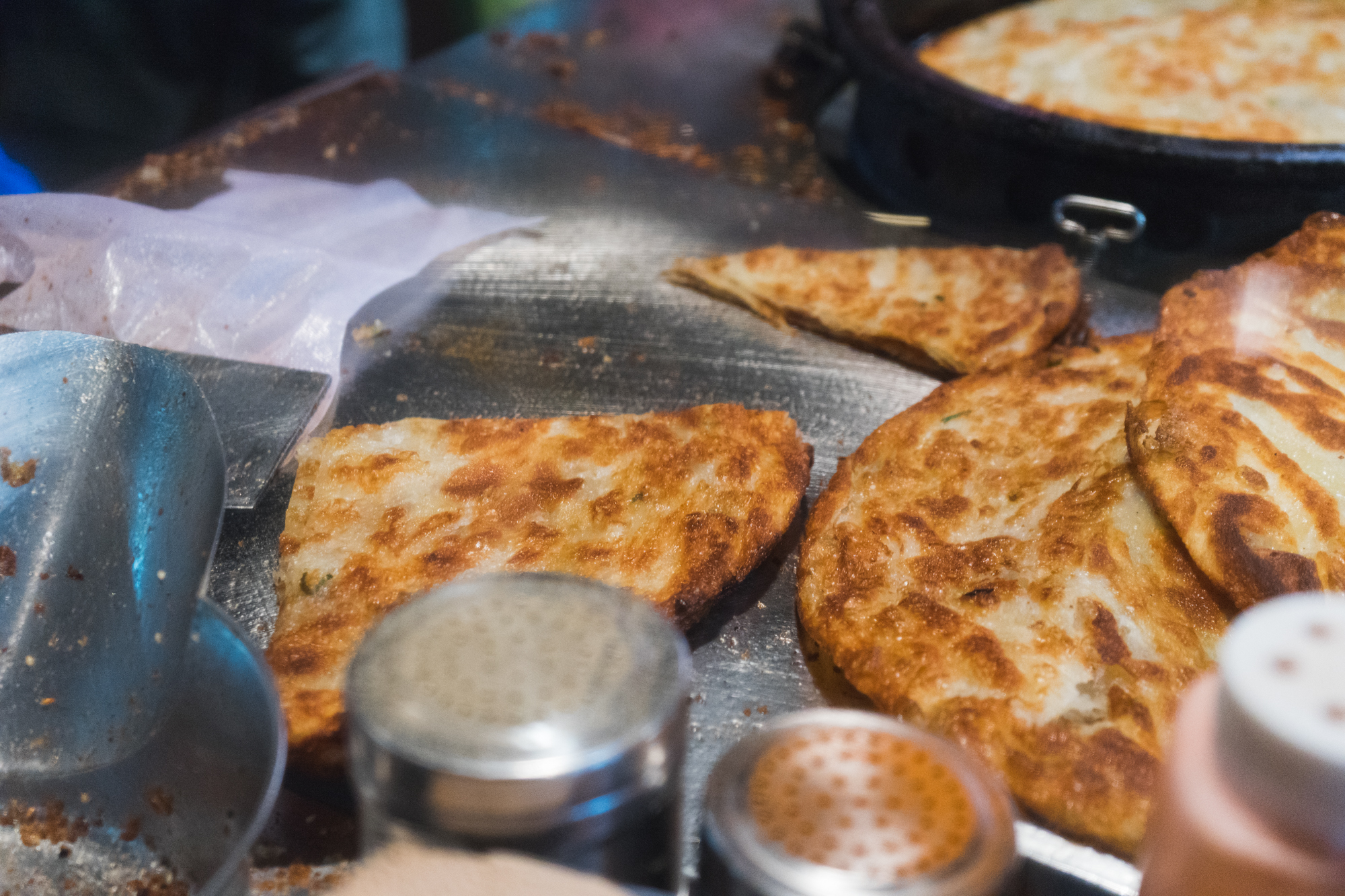 Green Onion Pancake in Hualien Taiwan