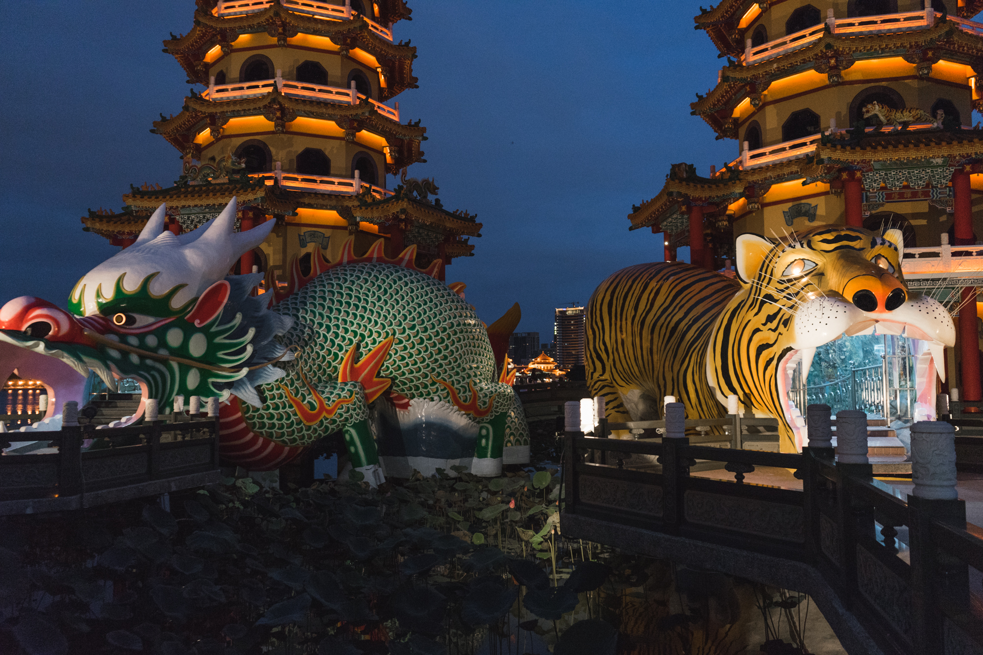 Dragon Tiger Pagodas at Lotus Pond in Kaohsiung