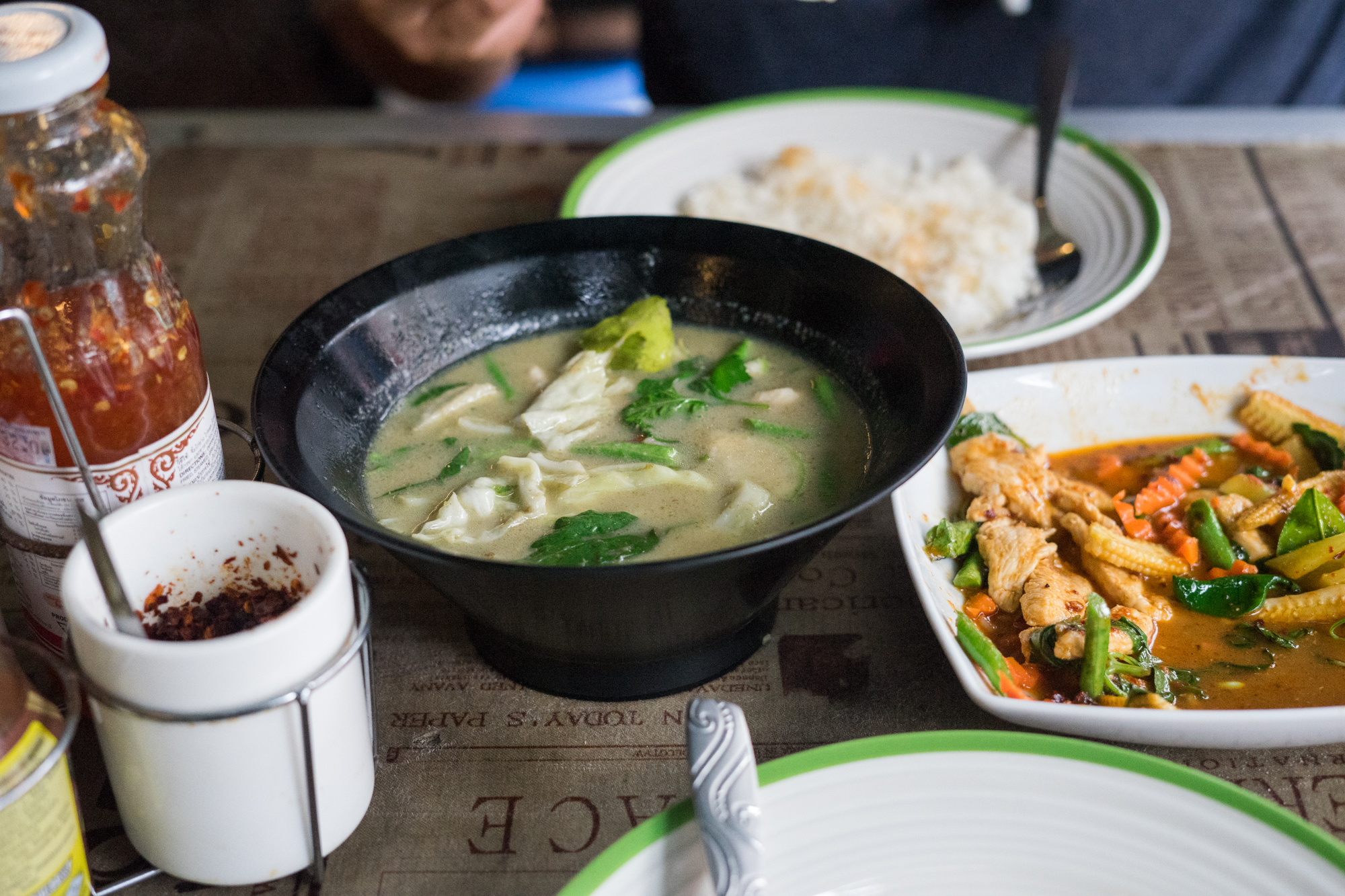 Green Curry in Bangkok Thailand