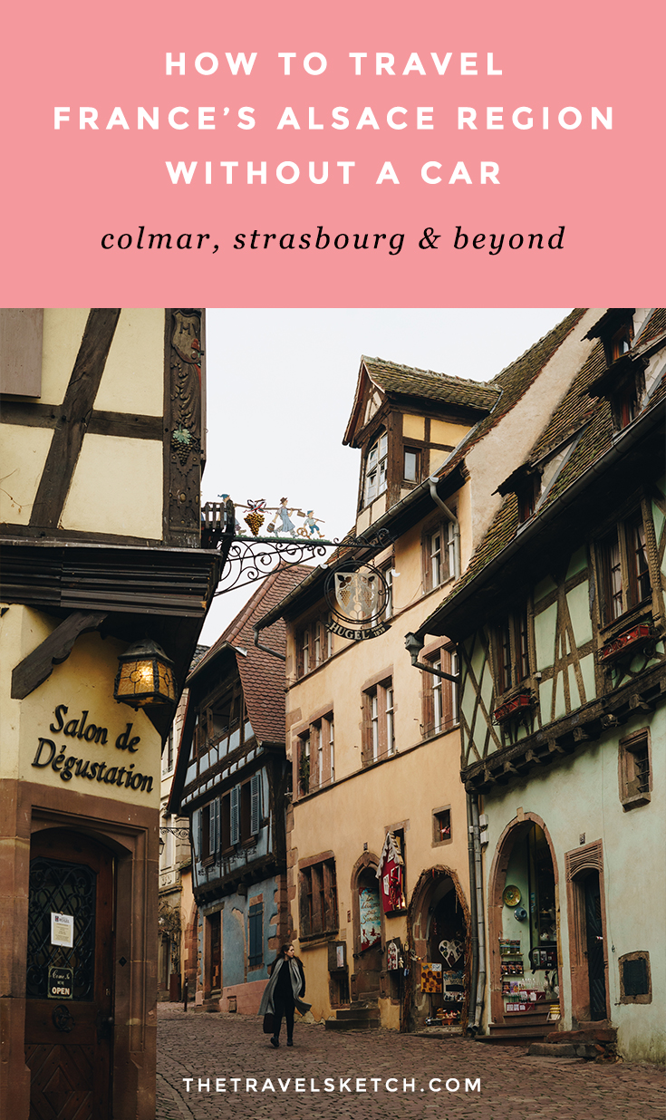 How to travel around France's Alsace region without a car. See Colmar, Strasbourg, Ribeauville, Riquewihr, and other villages by bus!   www.thetravelsketch.com