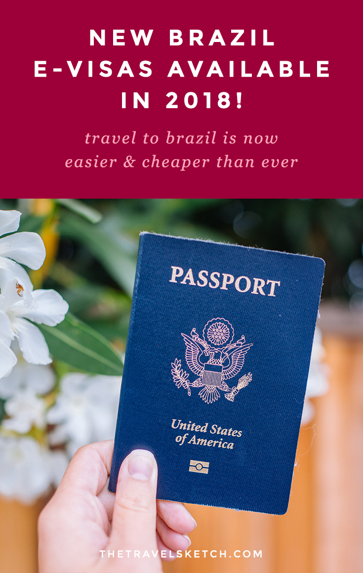 New Brazil E-Visa 2018 for Citizens of U.S. America, Canada, Japan, and Australia | www.thetravelsketch.com
