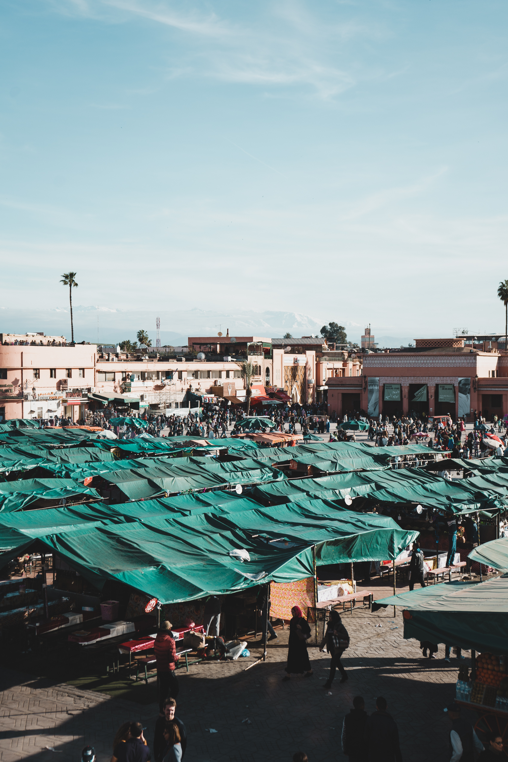 Jemaa el-Fnaa Night Market in Marrakech, Morocco