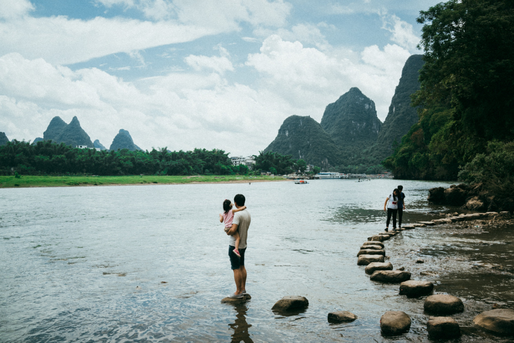 Overlooking the Li River in Yangshuo, China