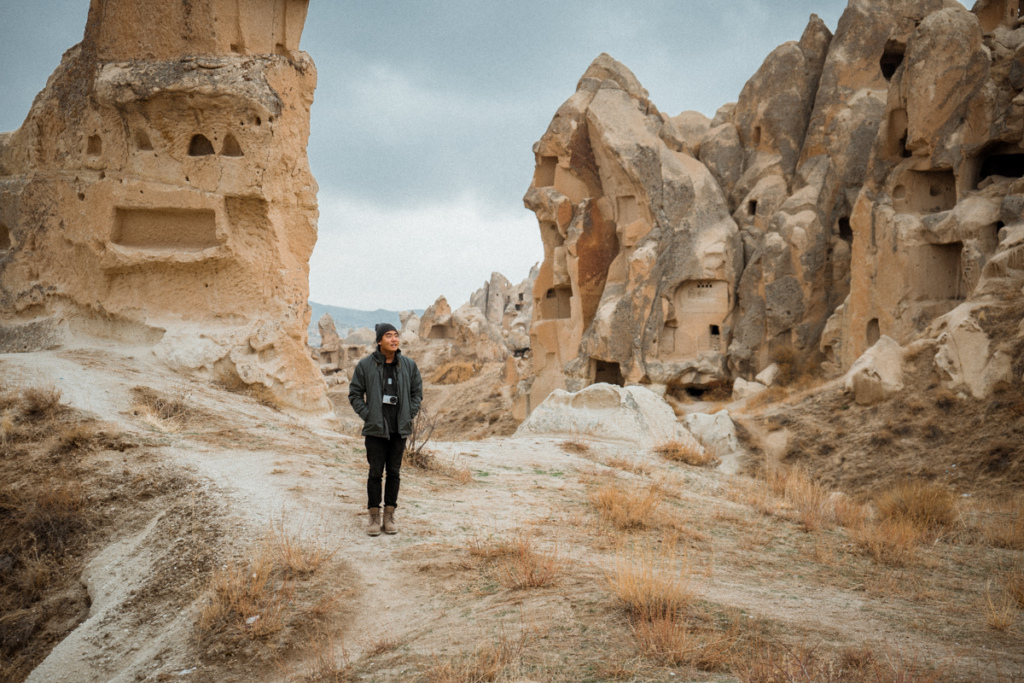 Exploring the landscape of Cappadocia, Turkey