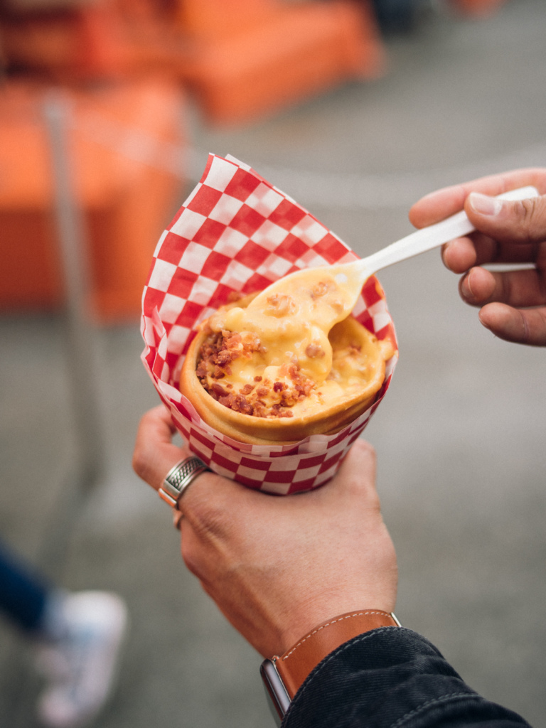 Bacon Mac and Cheese Cone from Cozy Cone Motel