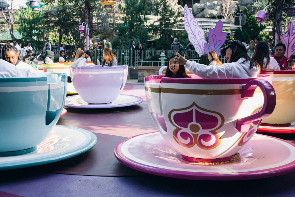 Tea cups ride in Fantasyland