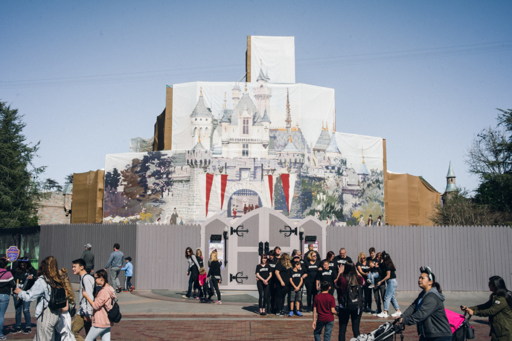 Disneyland Sleeping Beauty Castle renovation