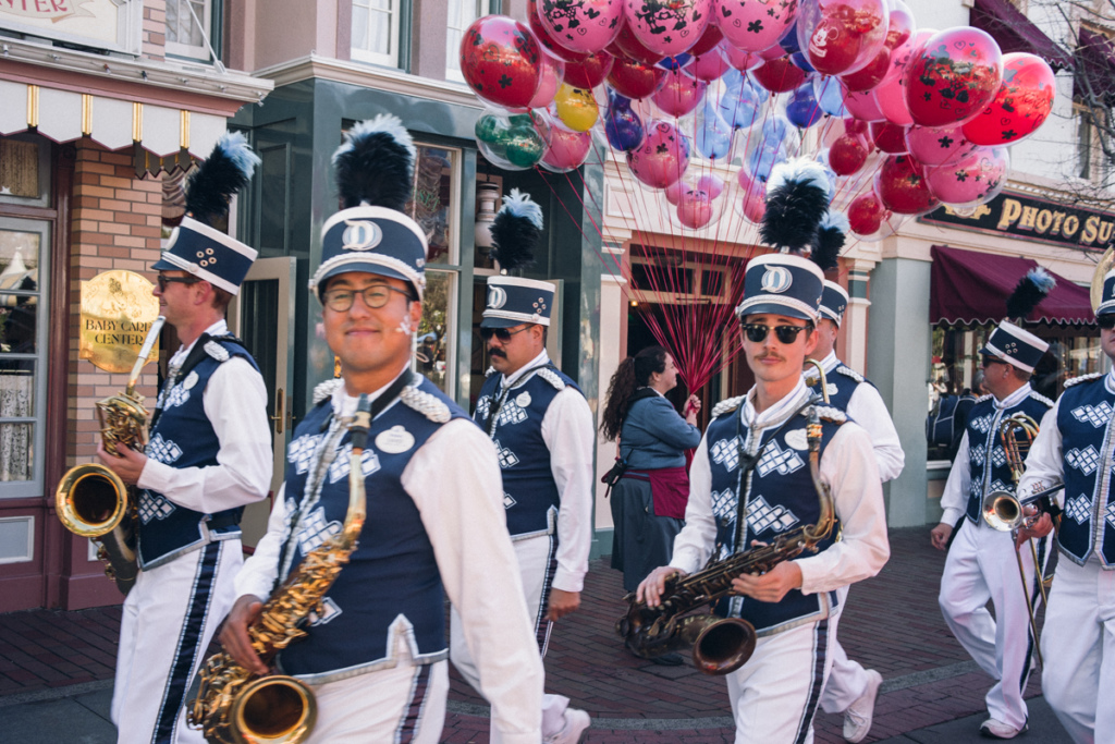 Band members at the Disneyland Parade