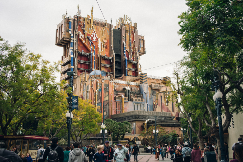 Guardians of the Galaxy: Mission Breakout ride at California Adventure
