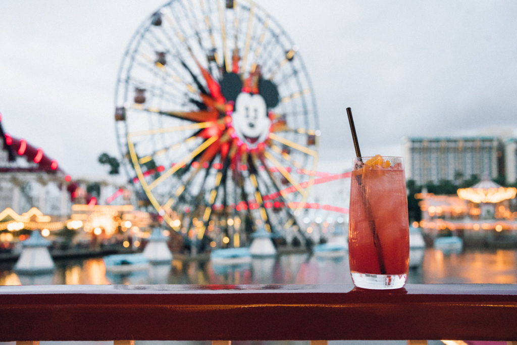 Cocktail at Lamplight Lounge in California Adventure