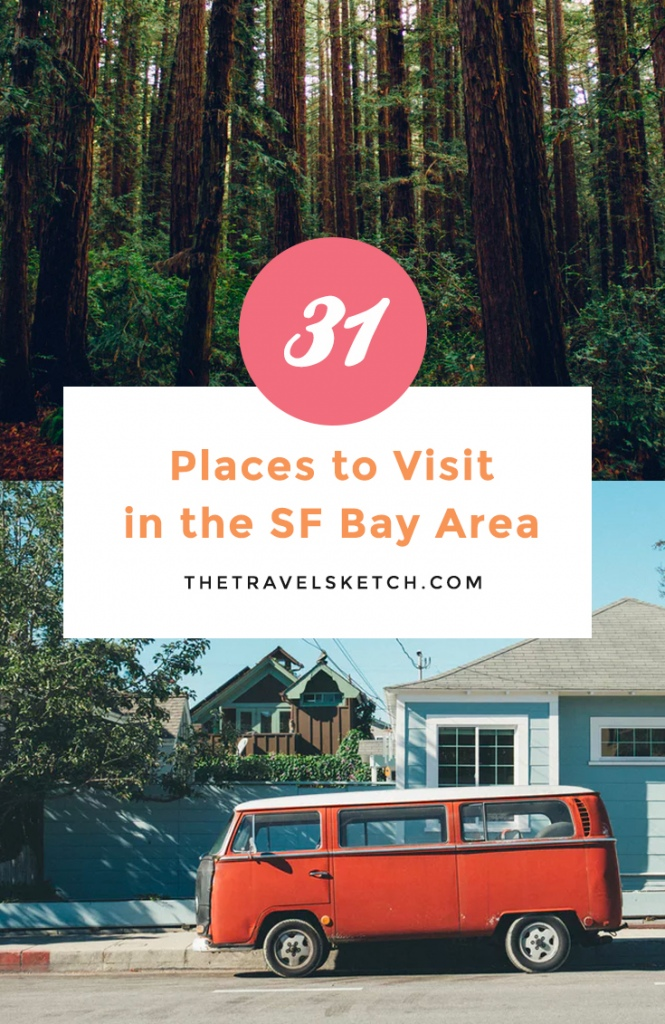Discover all the places to see and things to do around the San Francisco Bay Area of California!
