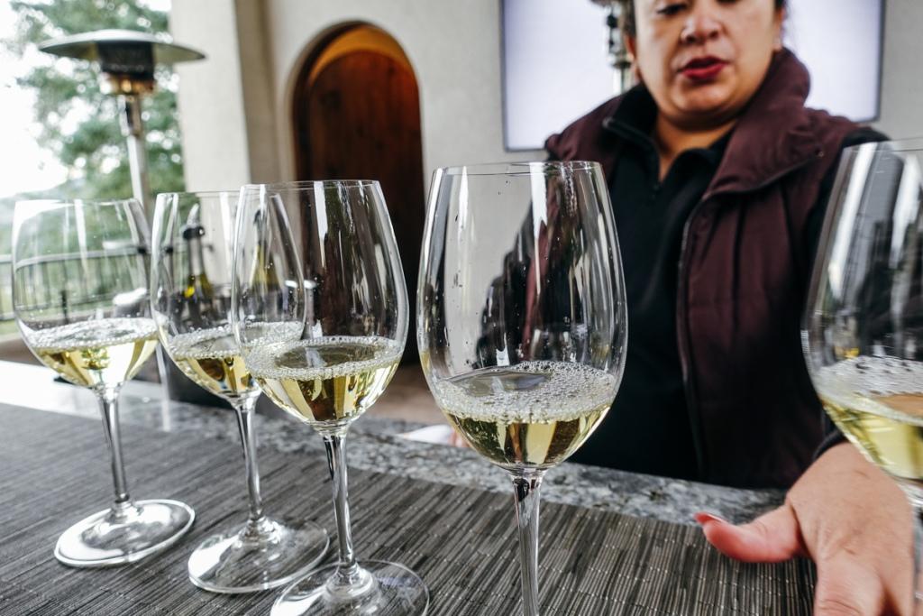 Wine tasting at Sterling Vineyards in Napa Valley