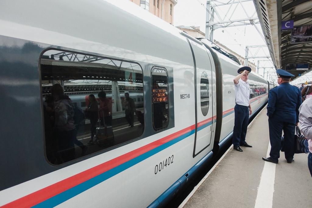 The Sapsan bullet train