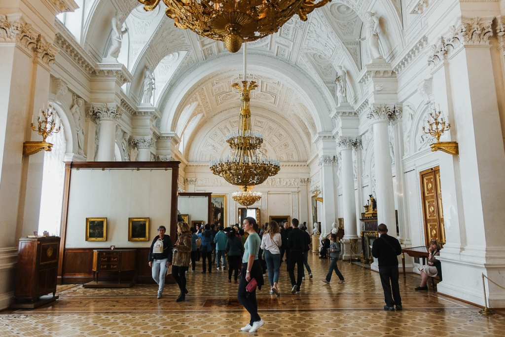 Inside the famous Hermitage