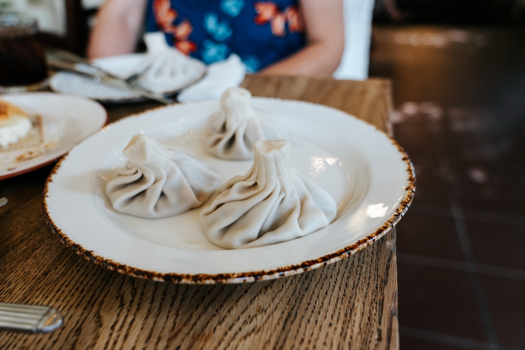 Giant soup dumplings, Georgia style