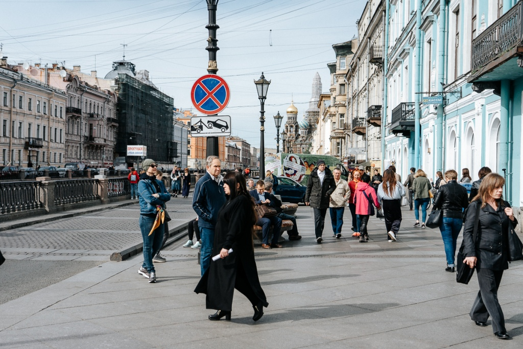 Foot traffic on Nevsky Prospect